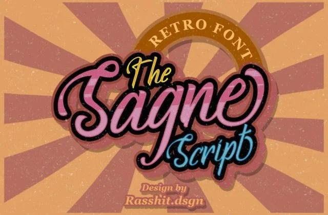Sagne [1 Font] | The Fonts Master