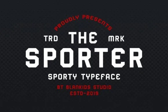 Sporter [1 Font] | The Fonts Master