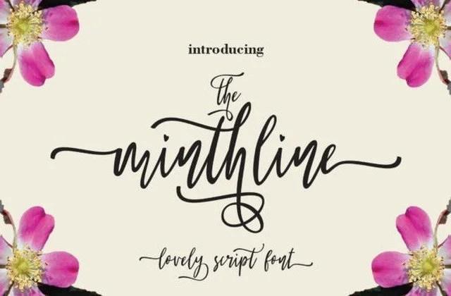 The Minthline Script [1 Font]   The Fonts Master