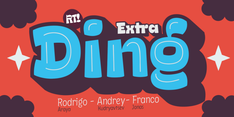 Ding Extra Super Family [6 Fonts] | The Fonts Master