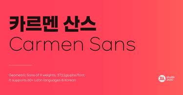 Carmen Sans Super Family [9 Fonts]
