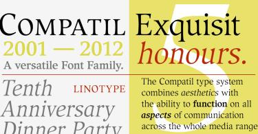 Compatil Exquisit Super Family [4 Fonts]