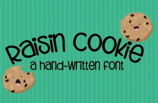 Zp Raisin Cookie [1 Font]   The Fonts Master