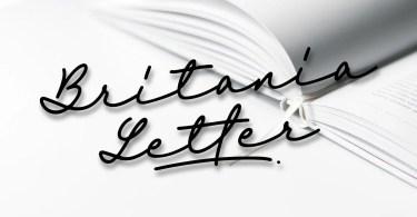 Britania Letter Signature Script [3 Fonts]