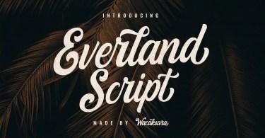 Everland Script [1 Font]