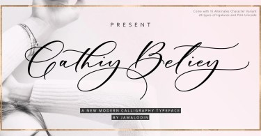 Cathiy Betiey [1 Font]