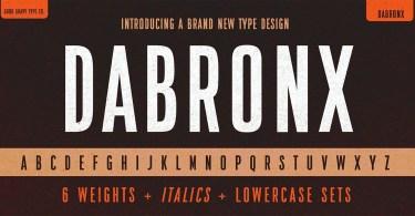 Da Bronx Sans [12 Fonts]