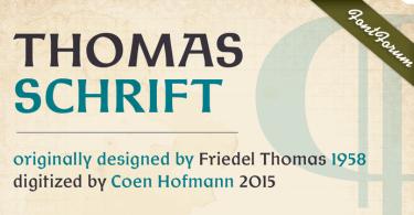 Thomas Schrift [2 Fonts]