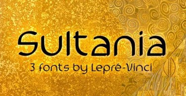 Sultania [3 Fonts]