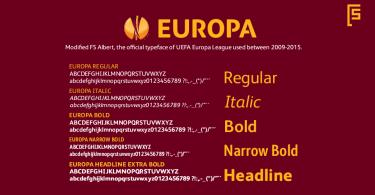 FS Europa [5 Fonts]