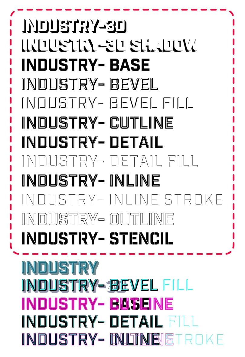 Industry Inc [12 Fonts]