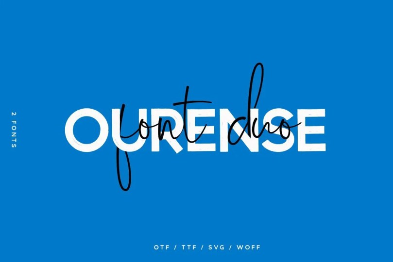 Ourense Font Duo [2 Fonts]