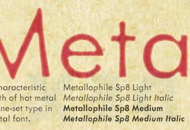 Metallophile Sp8 [4 Fonts]