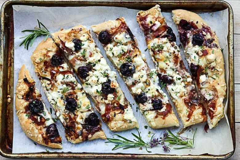 Balsamic Cherry, Feta & Prosciutto Pizza