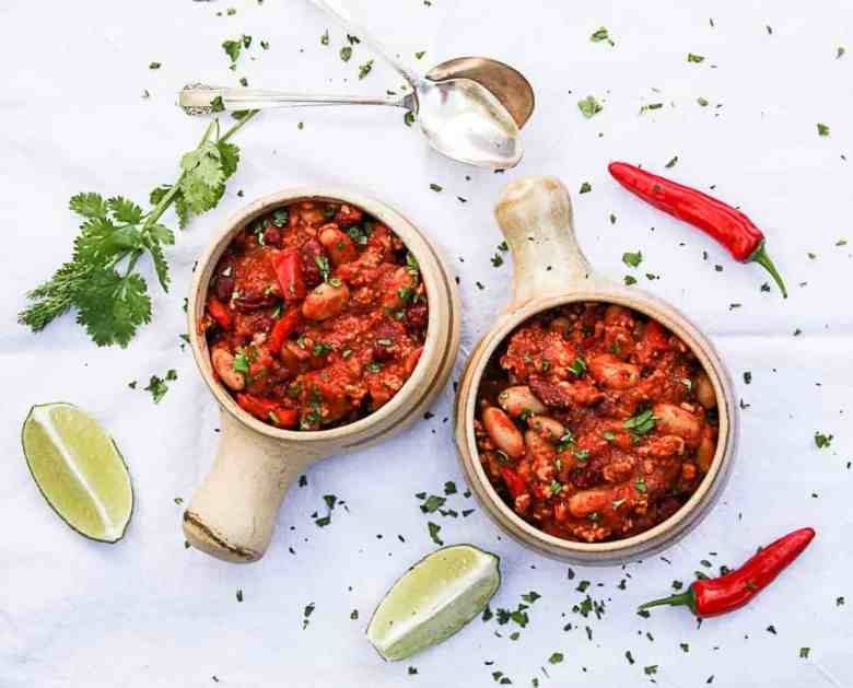 Chicken Chili with Tequila