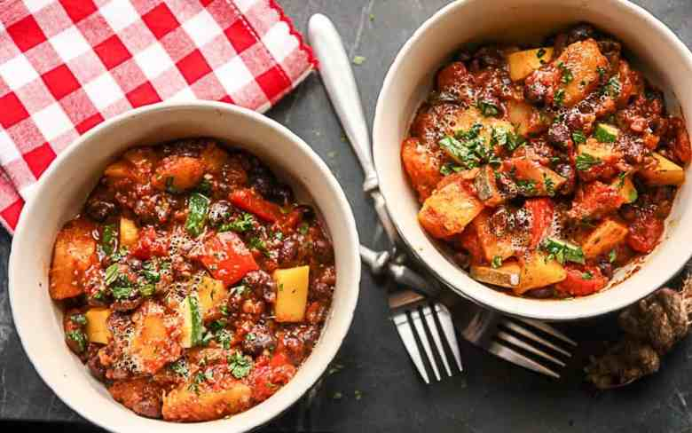 Butternut Squash Black Bean Chili – Vegetarian Chili Recipe