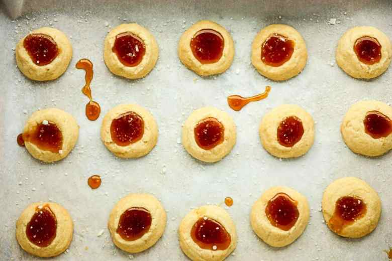 Salted Caramel Thumbprint Cookies – Shortbread Cookie Recipe