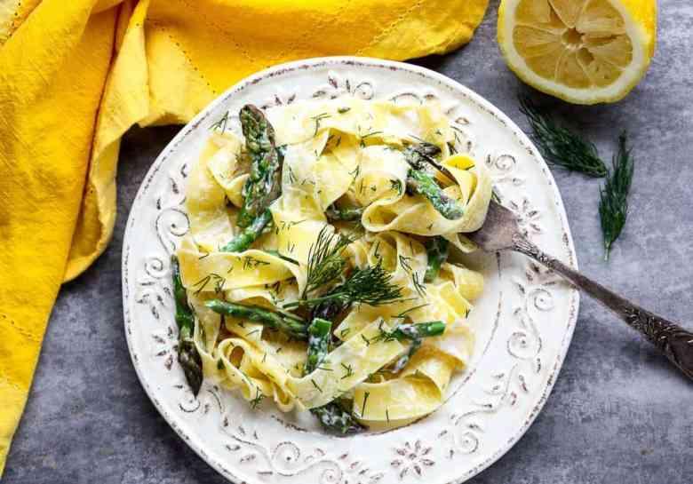 Lemon Pappardelle Pasta & Asparagus