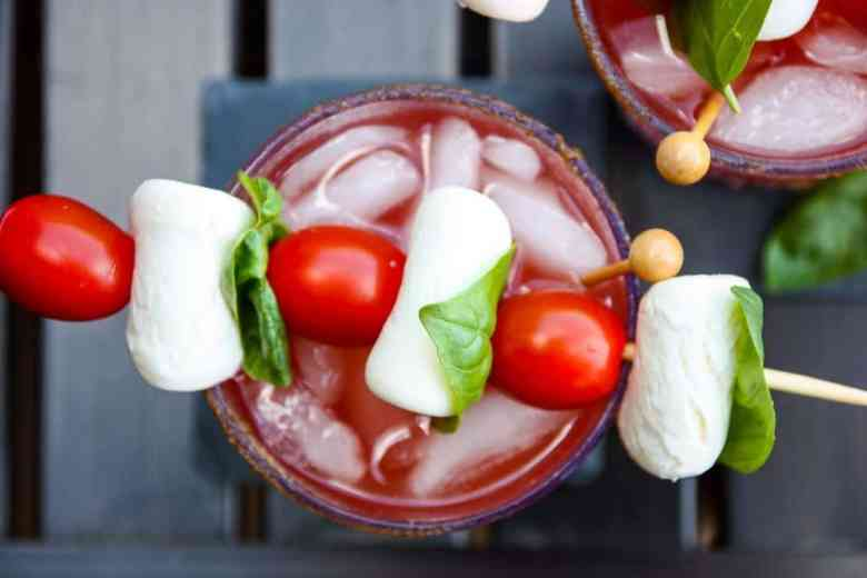 Caprese Caesar Cocktail – Canada Day Caesar Drink