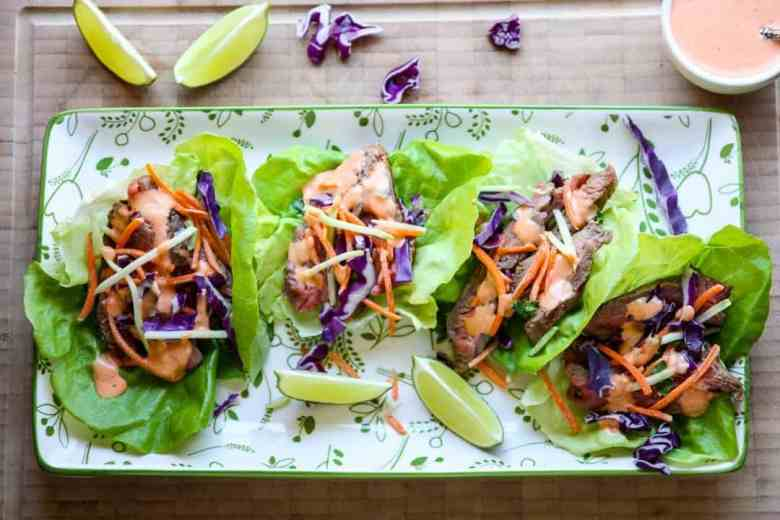 Ranch Steak Lettuce Wraps