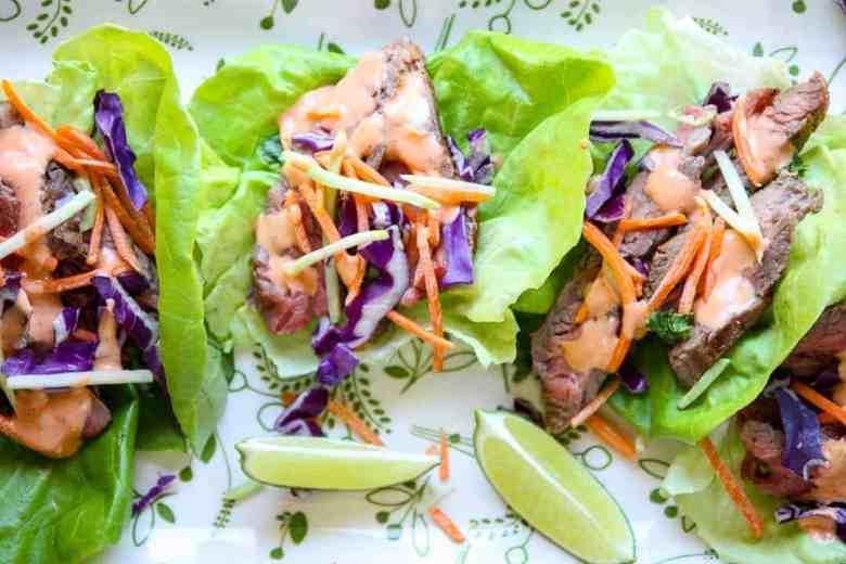 Ranch Steak Lettuce Wraps  –  Steak Wraps