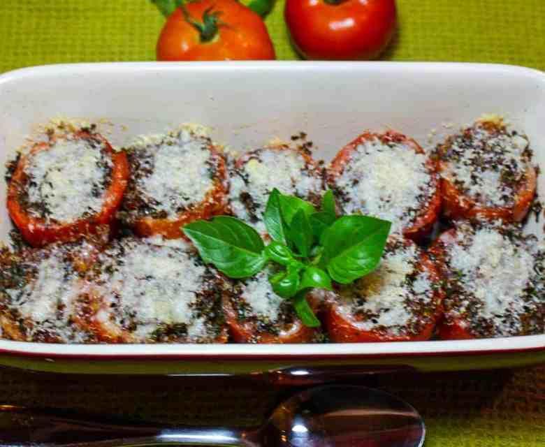 Quinoa Kale Stuffed Tomatoes