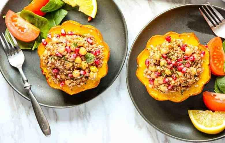 Bulgur Stuffed Acorn Squash
