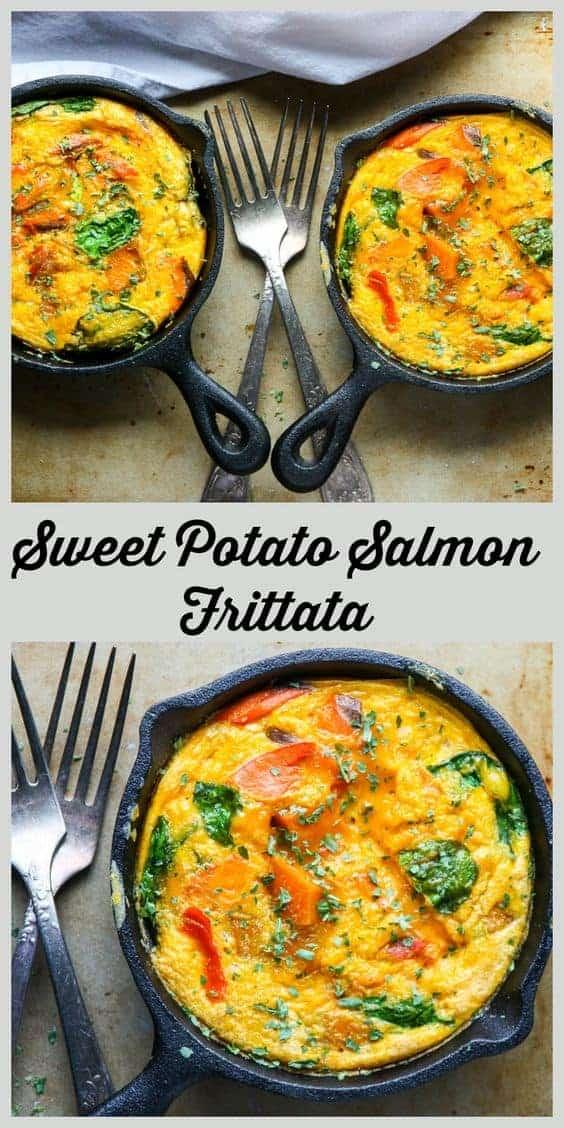 Sweet Potato Salmon Frittata