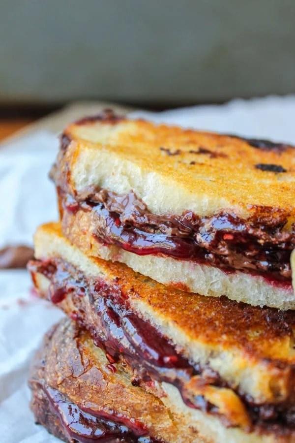 Raspberry Nocciolata Grilled Sandwich