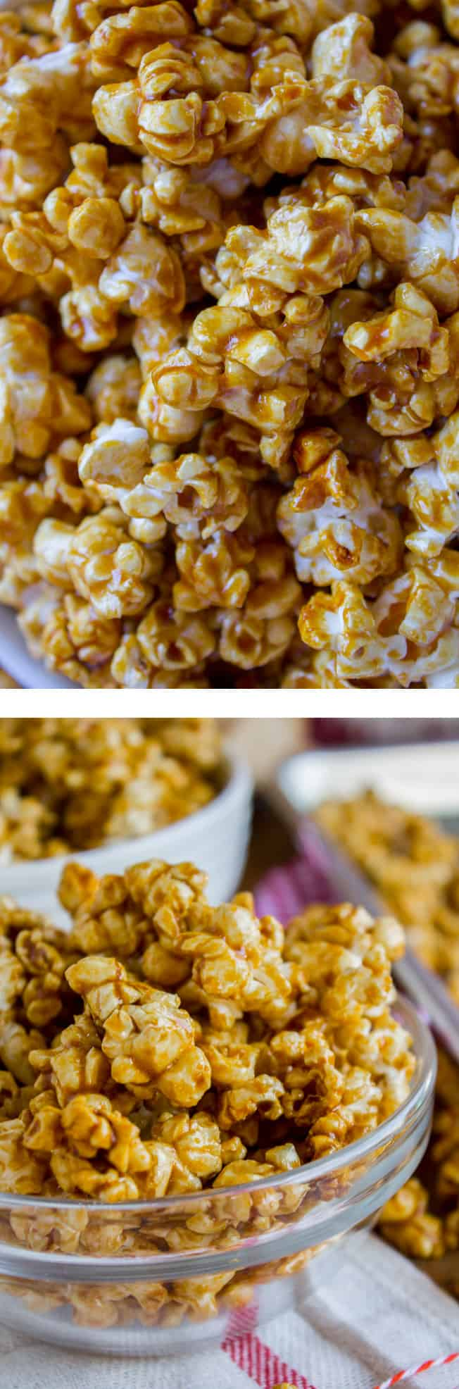 10 minute caramel popcorn in the microwave