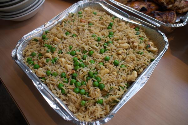 White rice and peas