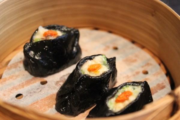 black prawn dumpling