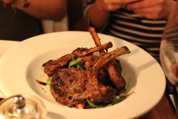 lamb chops seasonal veg