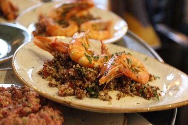 quinoa prawn tabouleh