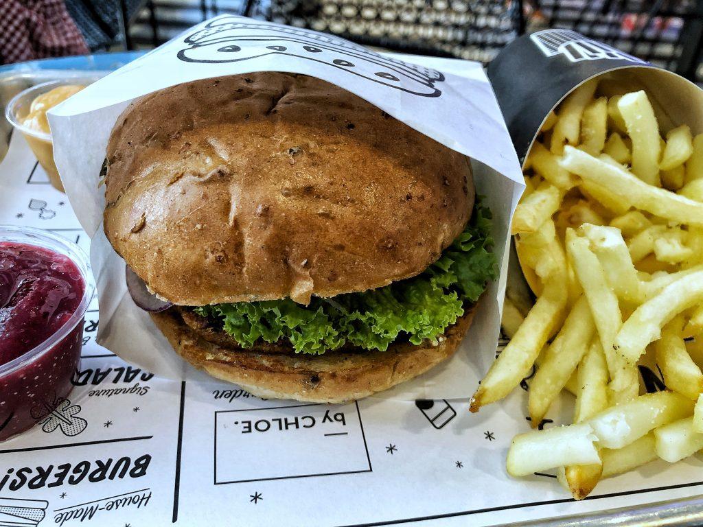 By Chloe The Quac burger Covent Garden