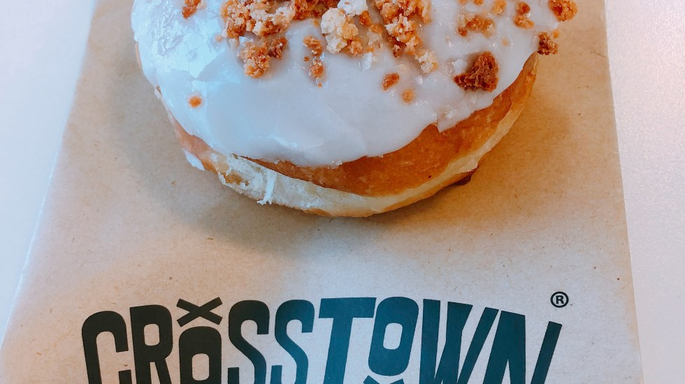 crosstown doughnut roasted peach