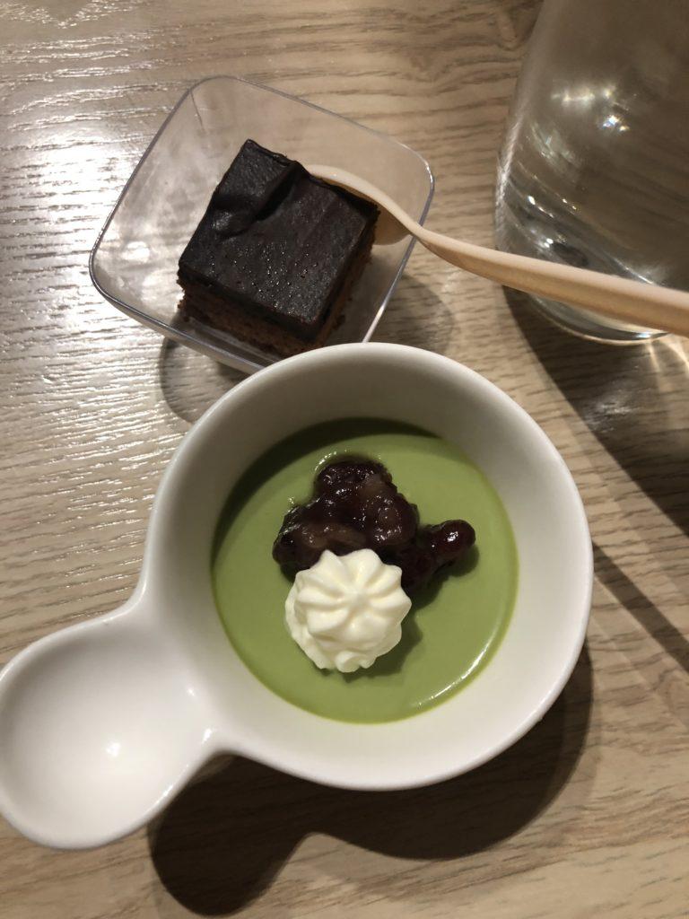 Club Autus green tea pudding