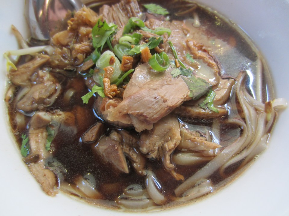 duck noodle in five-spice soup