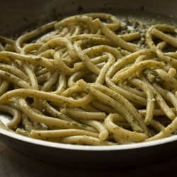 Bucatini with Pesto