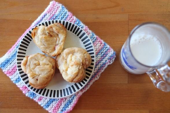 STRAWBERRY MUFFINS WITH LEMON CREAM CHEESE SWIRL recipe