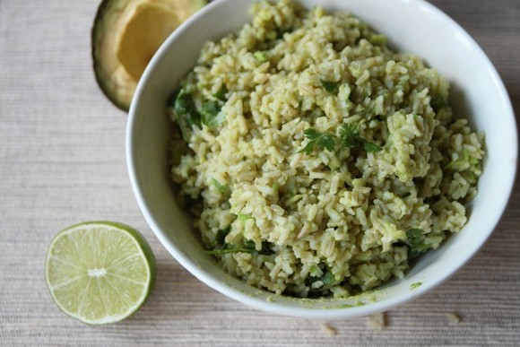 Creamy Avocado Rice recipe by Bon Appetit