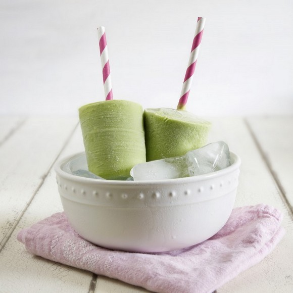 Creamy Green Tea Avocado Popsicles recipe by Munchin with Munchkin
