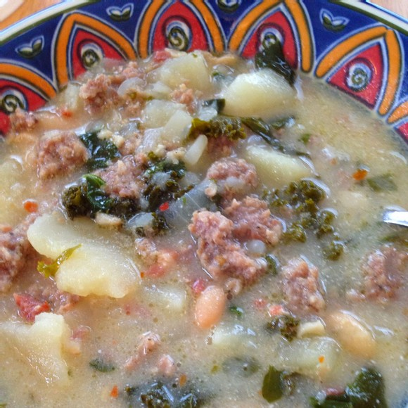 Dairy-Free Zuppa Toscana with Kale recipe by Marcy Can Cook!