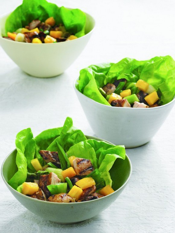 Island-Spiced Chicken Salad with Mango and Scallions recipe