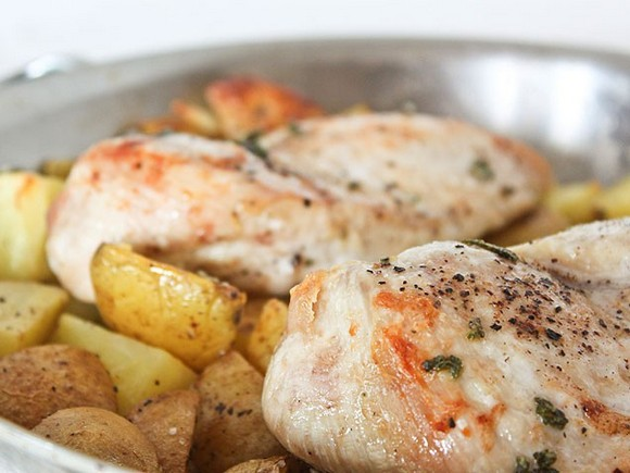 One-Dish Chicken and Potatoes recipe