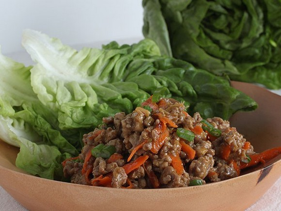 Spicy Asian Turkey Lettuce Wraps recipe