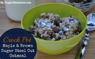 Crock Pot Brown Sugar & Maple Steel Cut Oats recipe photo
