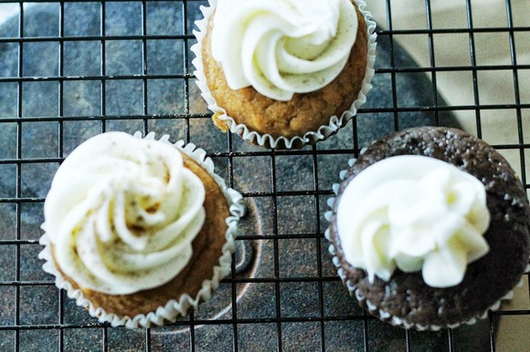 Pumpkin Cupcakes with Honey Cream Cheese Frosting recipe photo