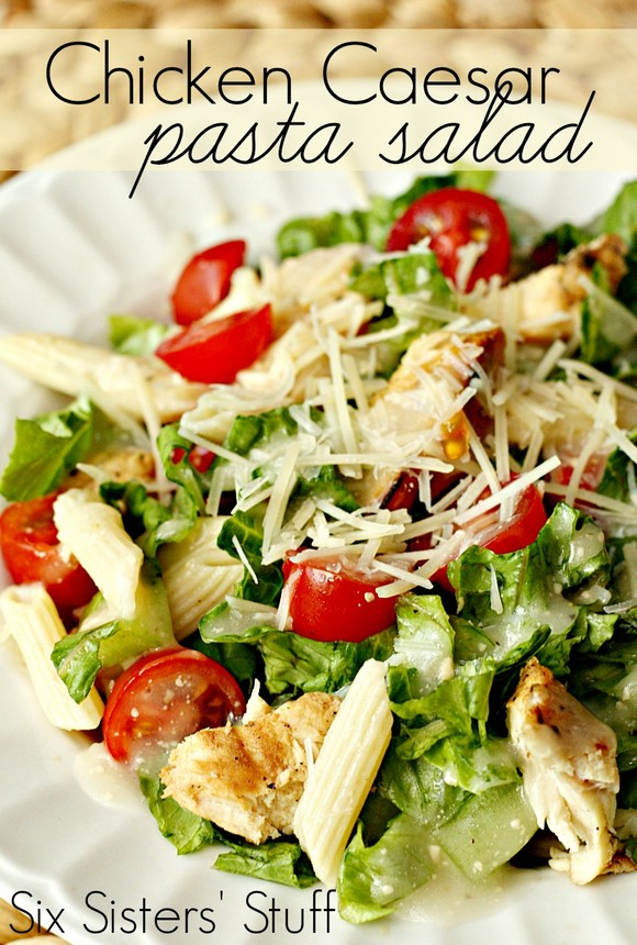 Grilled Chicken Caesar Pasta Salad recipe photo