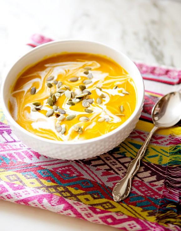Curried Pumpkin and Butternut Squash Soup recipe photo
